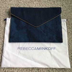 Rebecca Minkoff Denim Leo Clutch